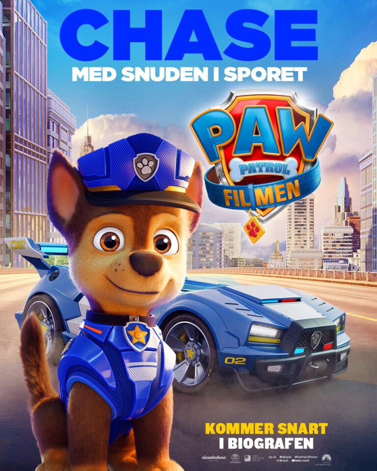 Paw Patrol Filmen - Karakterplakat - Chase