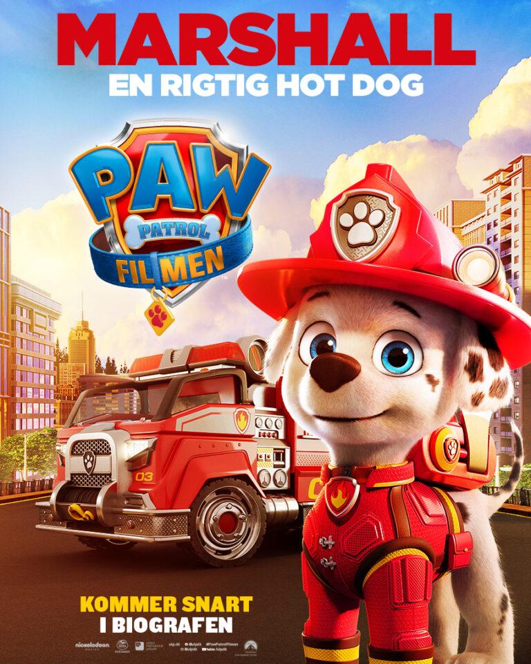 Paw Patrol Filmen - Karakterplakat - Marshall