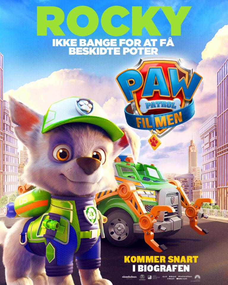 Paw Patrol Filmen - Karakterplakat - Rocky