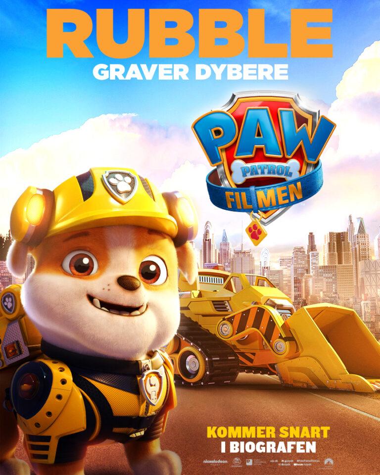 Paw Patrol Filmen - Karakterplakat - Rubble