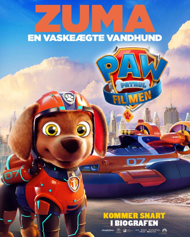 Paw Patrol Filmen - Karakterplakat - Zuma