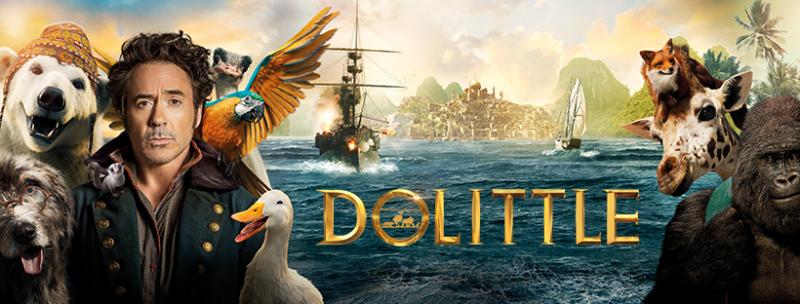 Dolittle film Facebook banner